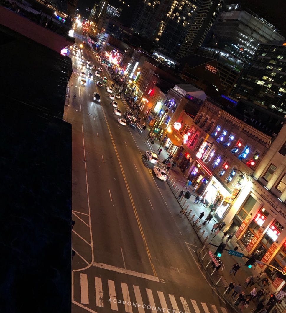 Broadway at Night Nashville Tennessee