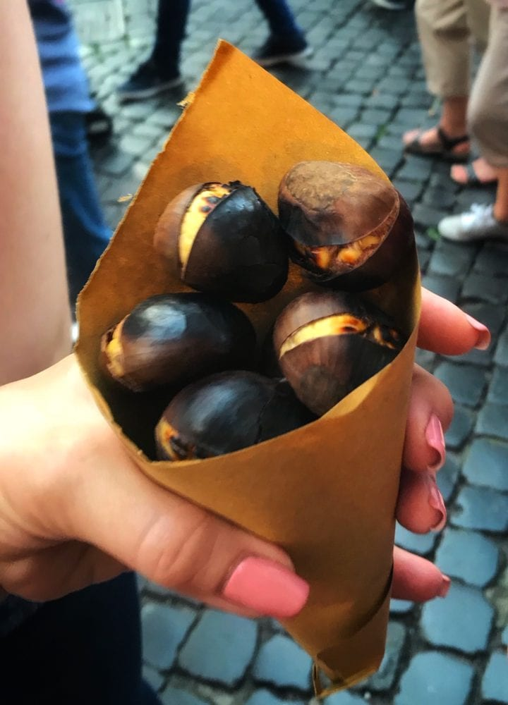 Chestnuts Rome Italy