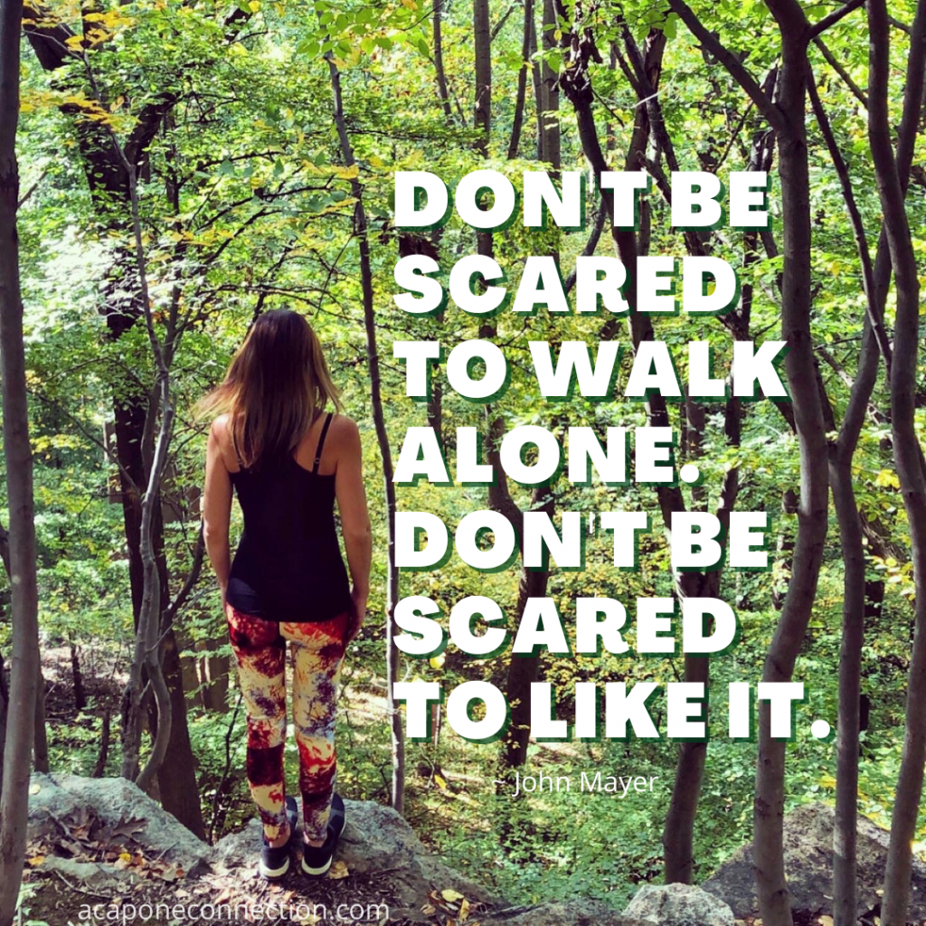 Inspirational Quote about walking alone