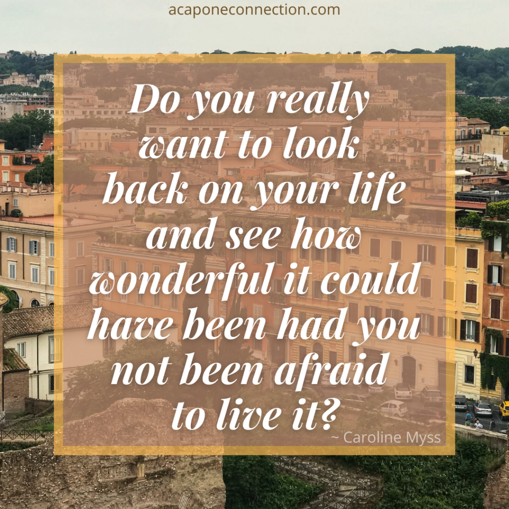 Inspirational Quote about looking back