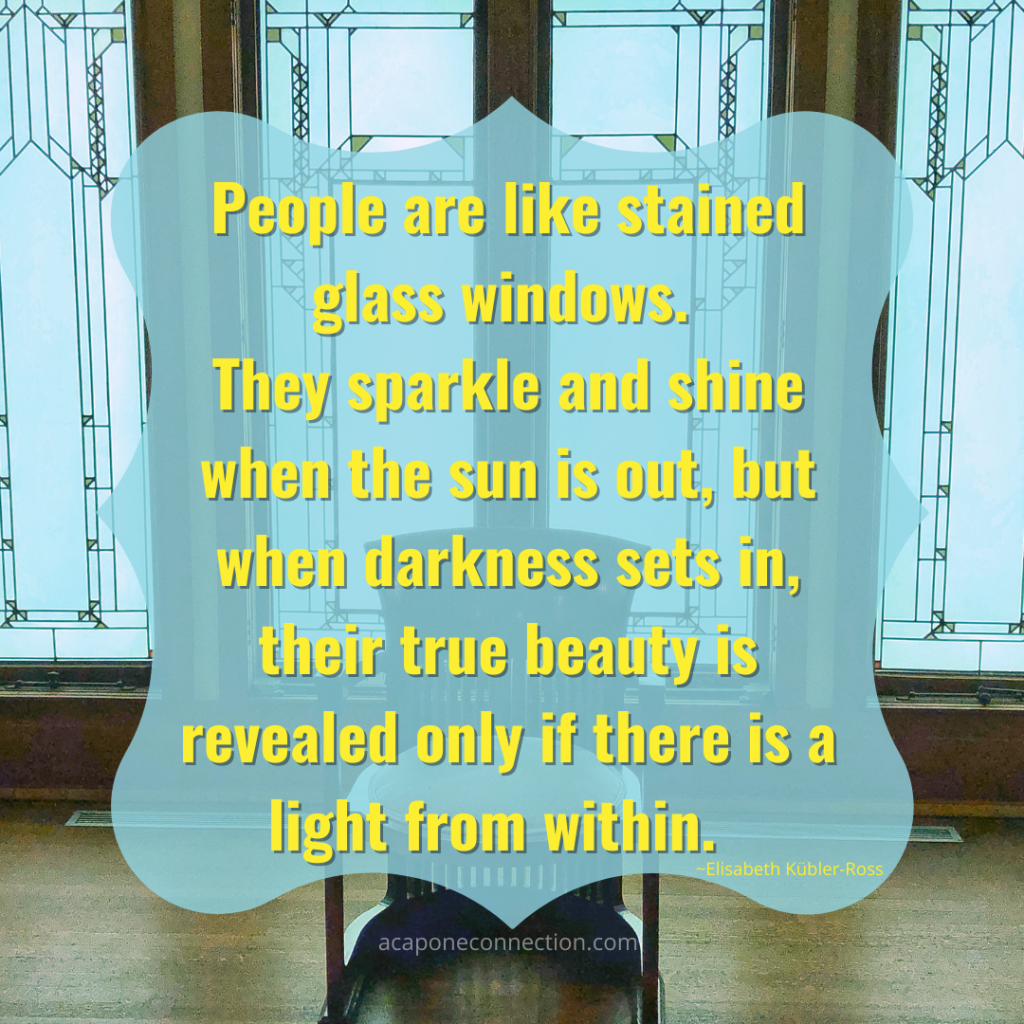 Inspirational Quote about Stained Glass Windows