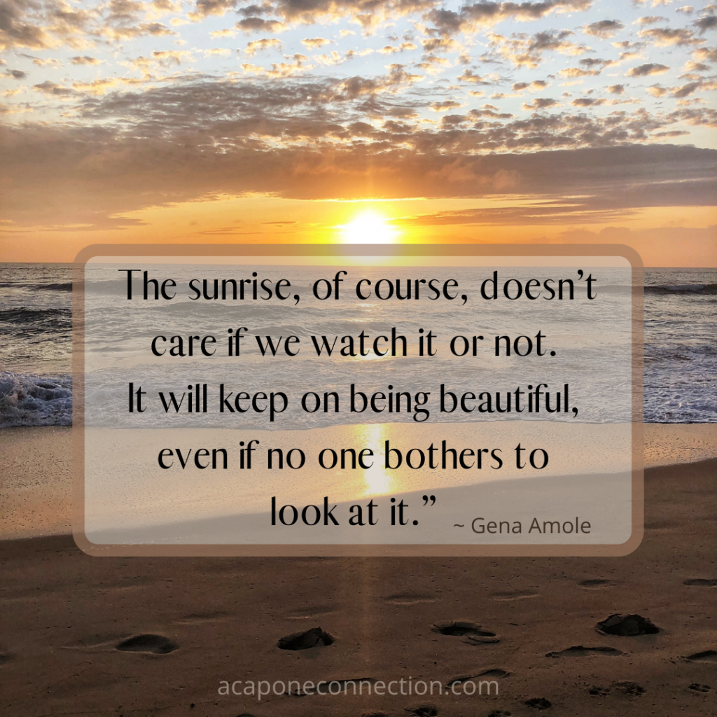 Inspirational Quote with Sunrise