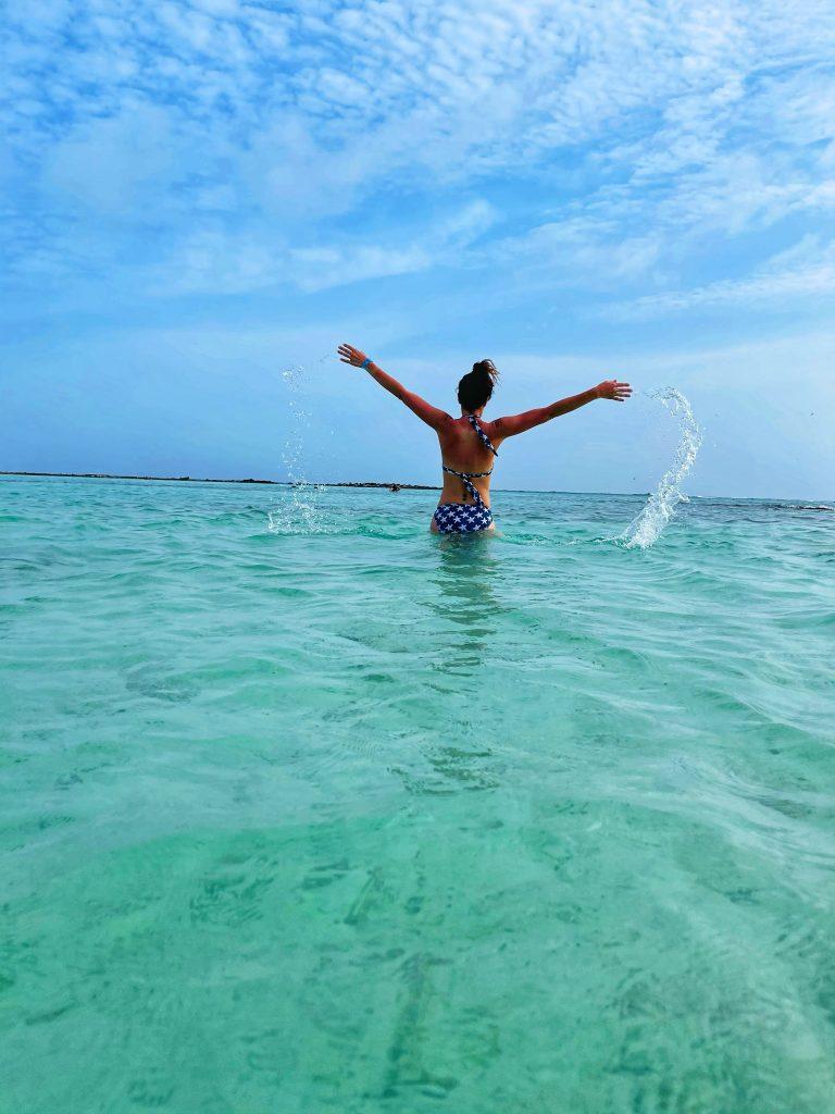 Andrea Capone in Baby Beach Aruba
