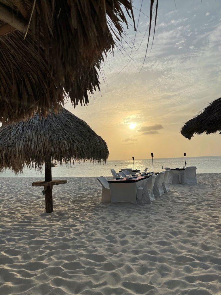 Eagle Beach Aruba Tables on the Beach